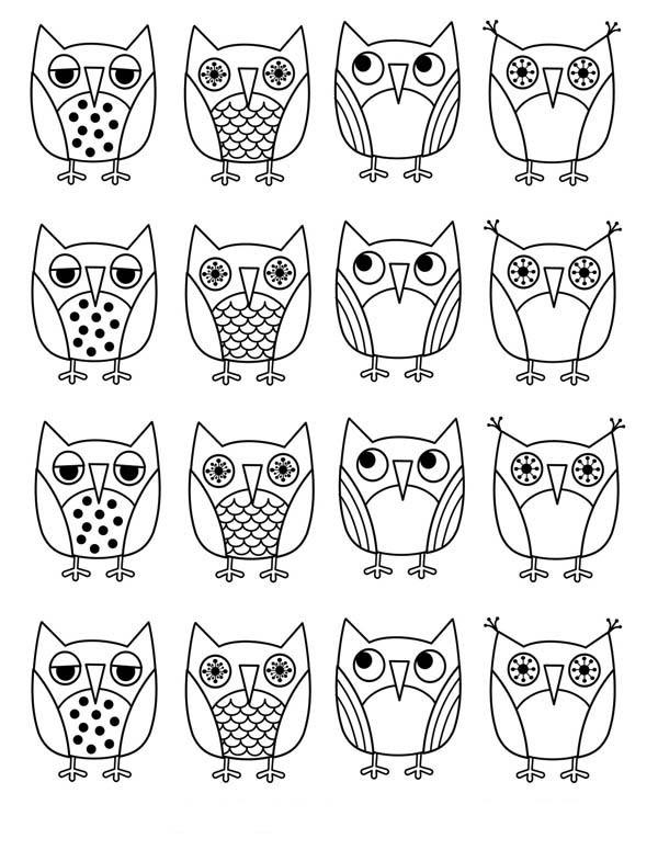 owls icons colorng page: owls-icons-colorng-page.jpg
