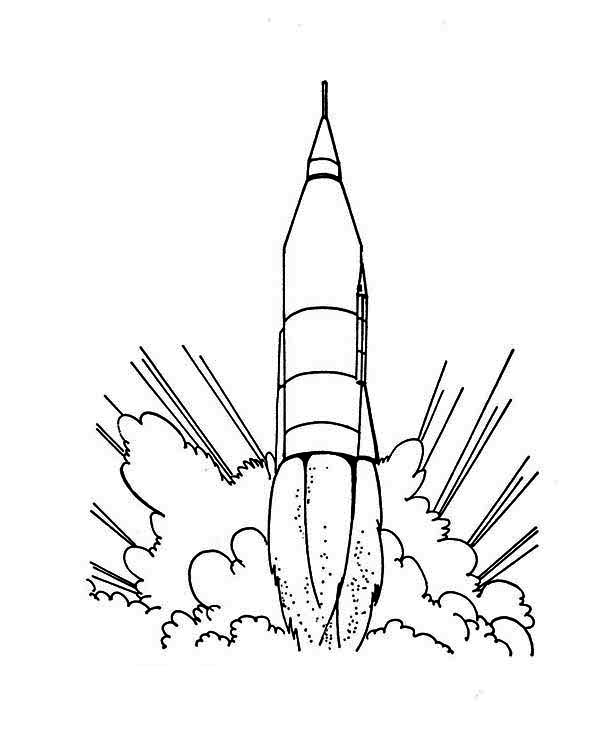 Gallery For > Rocket Ship Drawings Kids
