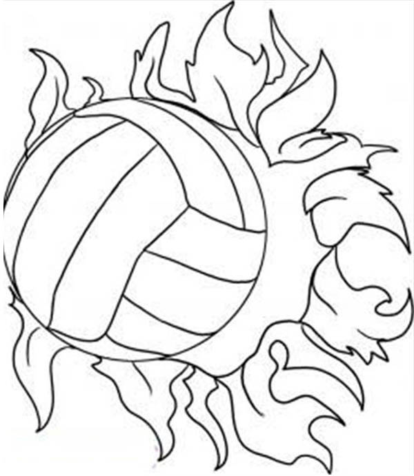Volleyball Coloring Pages Easy Coloring Pages