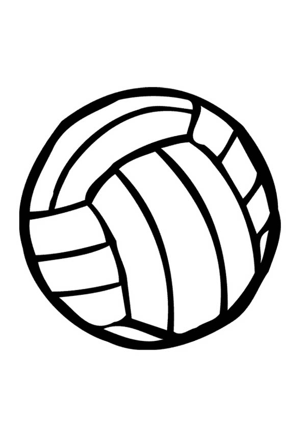volleyball coloring page for kids: volleyball-coloring