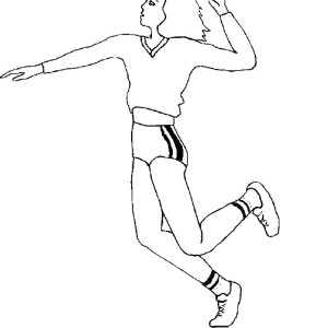 ready to spike volleyball coloring page: ready-to-spike