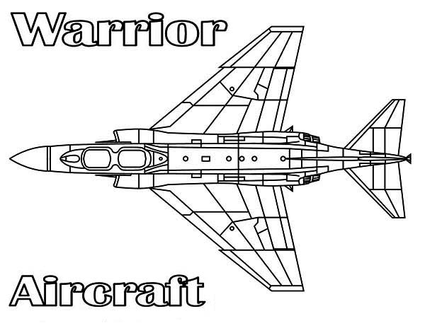 warrior aircraft coloring page: warrior-aircraft-coloring