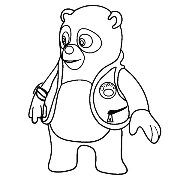 Coloring pages Special Agent Oso