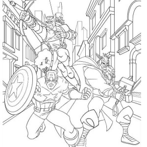 Print The Avengers Character Loki Coloring Page in Full Size