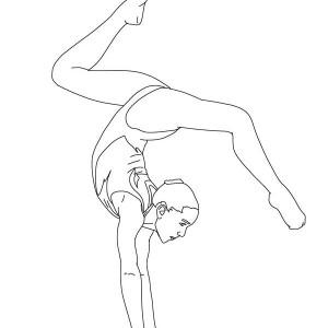 Gymnastic Coloring Page: Gymnastic Coloring Page