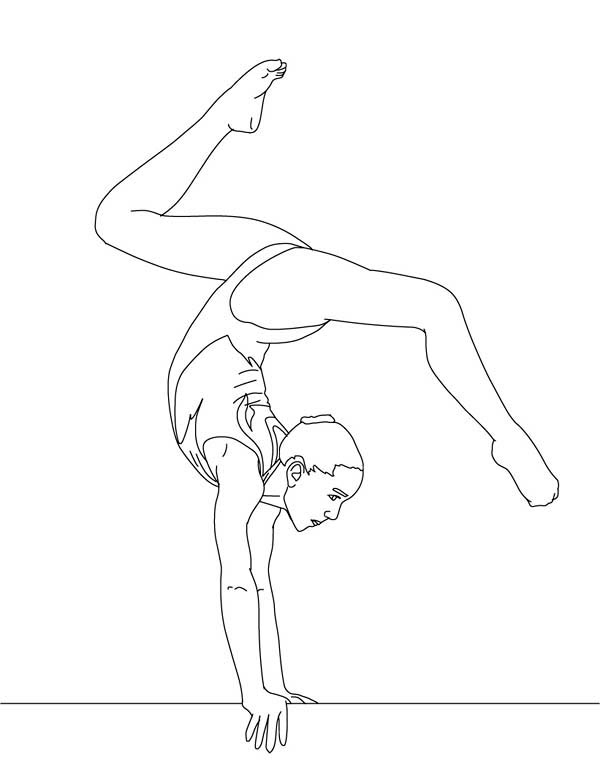 Free artistic gymnastic coloring pages