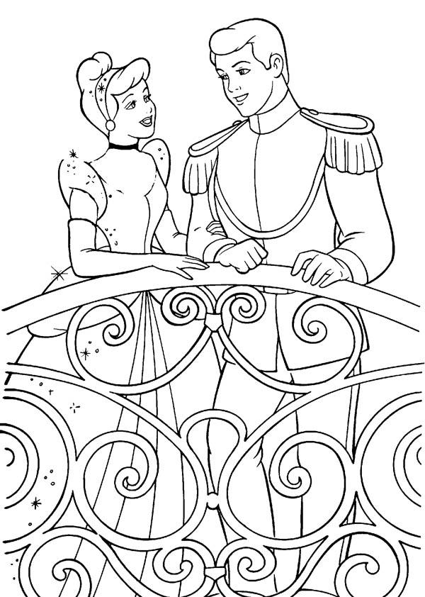 Cinderella Talking to Prince Charming in Cinderella