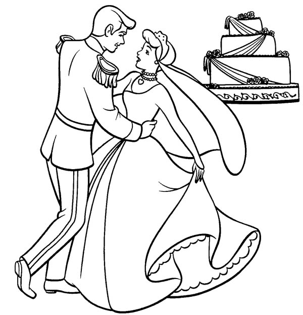 Cinderella and Prince Charming Dance Their Wedding Party
