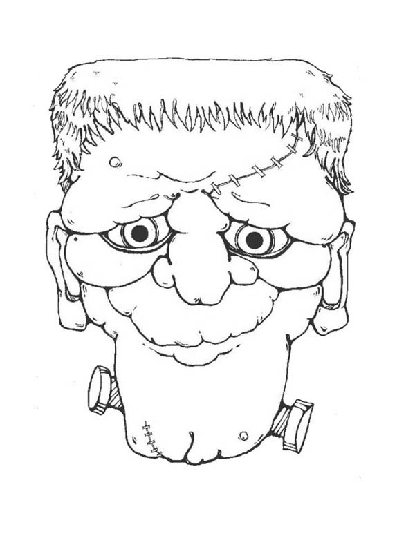 Frankenstein Head Coloring Pages