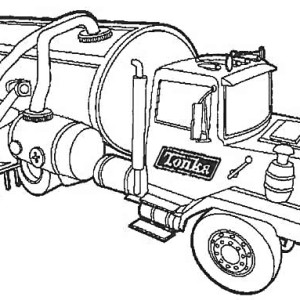 Tractor trailer Semi Truck Coloring Page: Tractor-trailer
