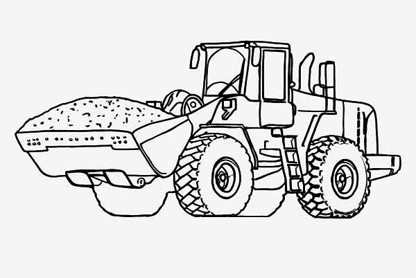 Heavy Tractor Coloring Page: Heavy Tractor Coloring Page