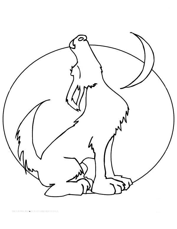 Free coloring pages of howling wolf