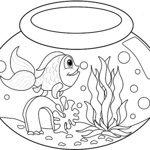 Matisse Fish Bowl Coloring Page Coloring Pages