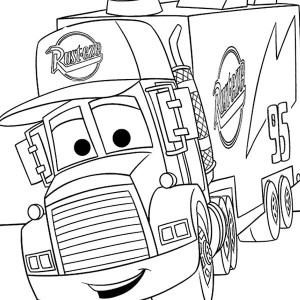 Mack From Disney Cars Coloring Page