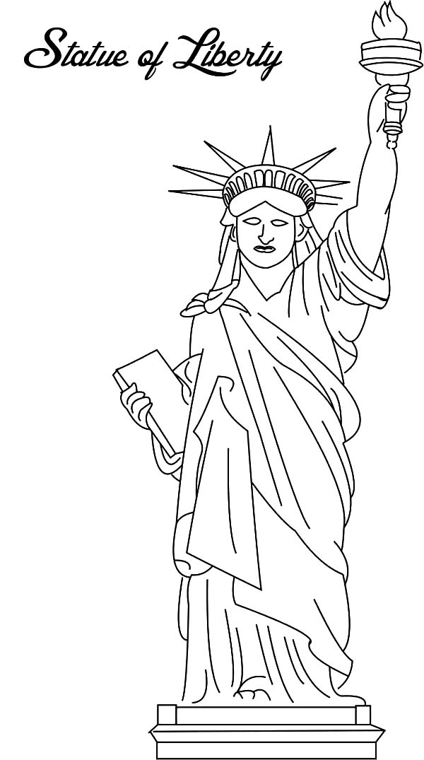 Picture of Statue of Liberty Coloring Page