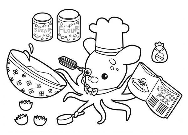 Professor Inkling Octopus Cooking Octopie in The Octonauts