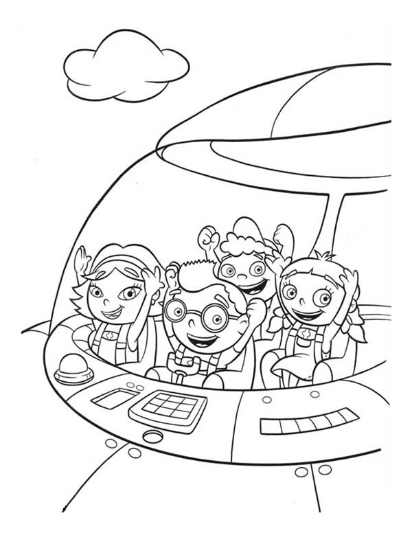 Pin Little Einsteins June Coloring Pages Images to Pinterest