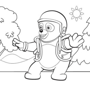 New Mission Special Agent Oso Coloring Page: New Mission