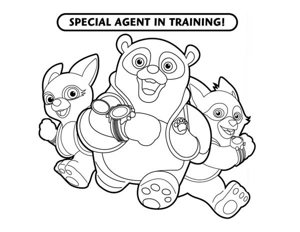 Special Agent Training in Special Agent Oso Coloring Page