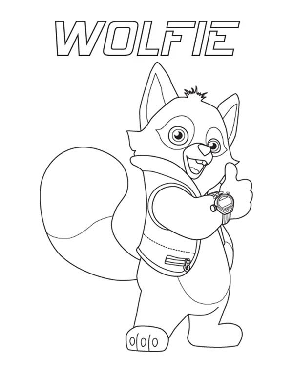 Special Agent Wolfie Of Special Agent Oso Coloring Page