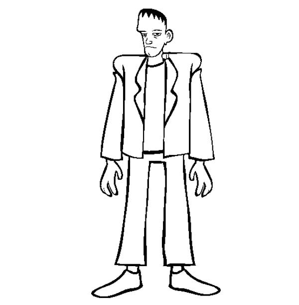 Tall Frankenstein Coloring Page Download Amp Print Online