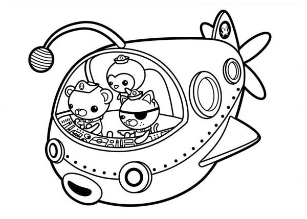 The Fun Adventures of The Octonauts Coloring Page: The Fun