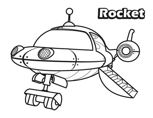 The Rocket in Little Einsteins Coloring Page: The Rocket