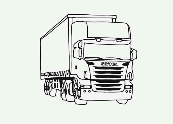 Kleurplaat Vrachtauto Volvo Kleurplaat Truck Kleurplaten