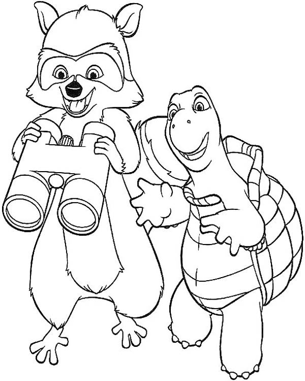 Free binocular color page coloring pages