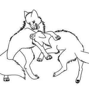 Print Running For Prey Wolf Coloring Page in Full Size