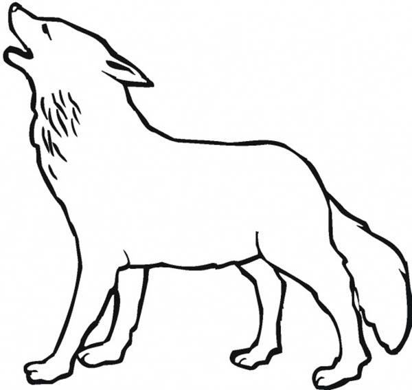 Free Wolf Head Howling Coloring Pages