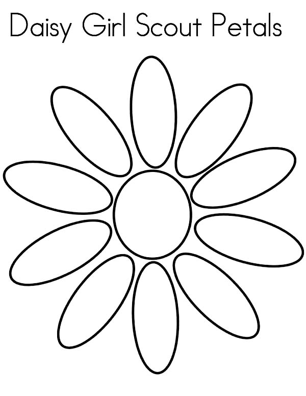 10 petal flowers Colouring Pages