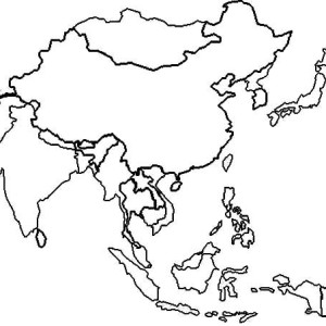 Pin Asia-continent-colouring-pages on Pinterest