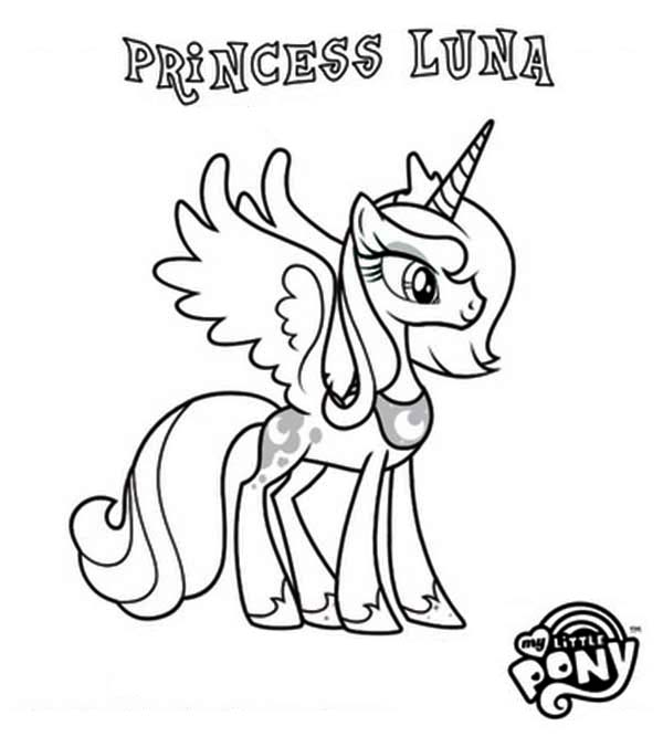 My Little Pony Coloring Pages Baby Luna