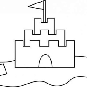 Simple Sand Castle Coloring Coloring Pages