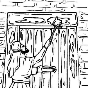 Making Bricks Israelites Coloring Page Coloring Pages
