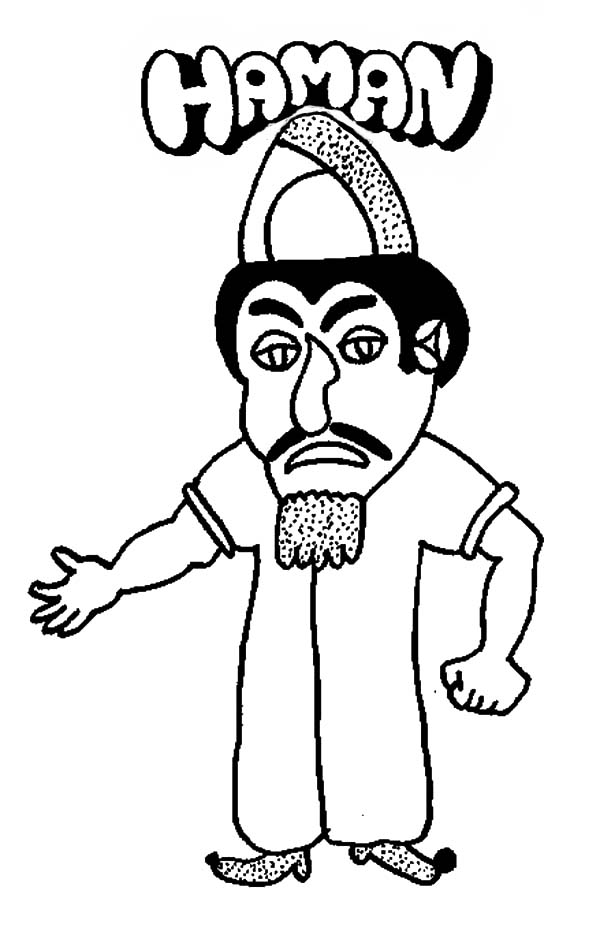 the villain haman in purim coloring page  download