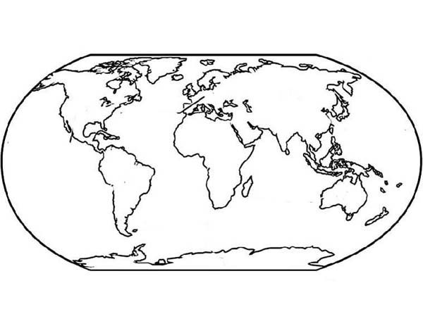 World Map for Education Coloring Page: World Map for