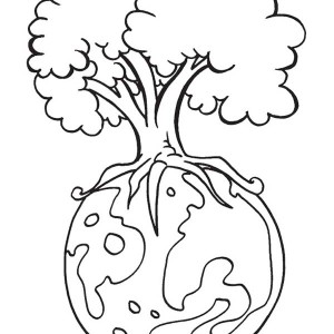 Take Care of the Earth on Earth Day Coloring Page: Take