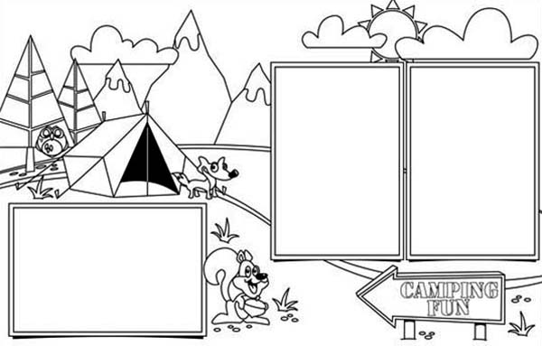 Camping is so Full of Fun on Summer Camp Coloring Page