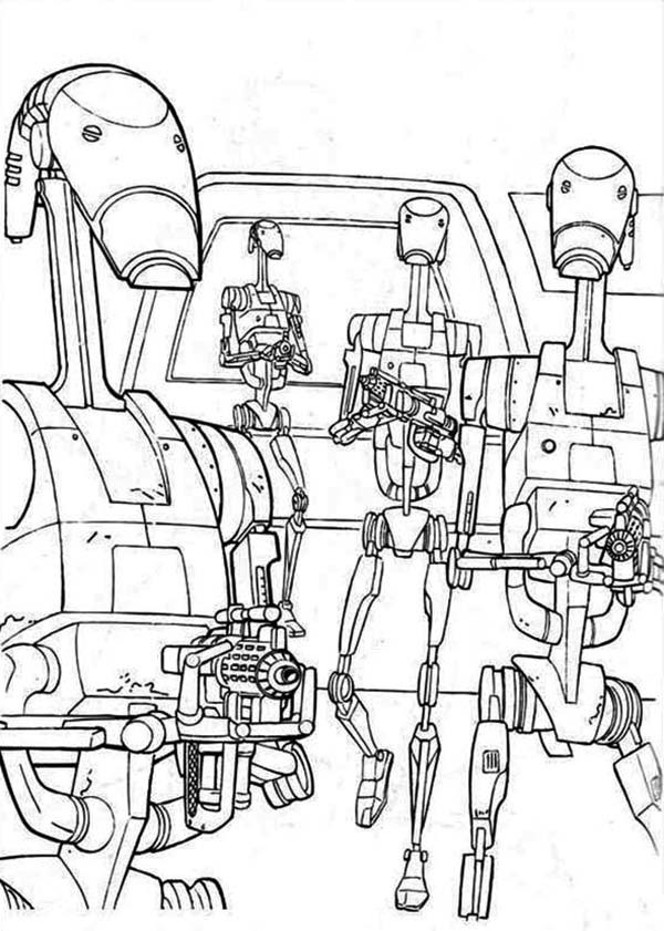 How to Draw Droidekas in Star Wars Coloring Page