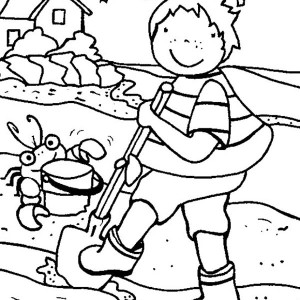 Summertime Holiday on the Beach with All Family Coloring