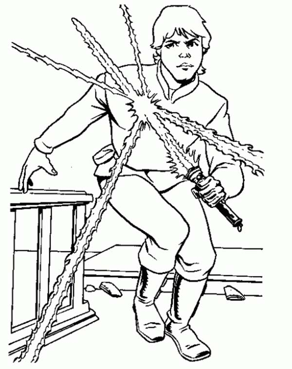 Luke Skywalker from Star Wars Coloring Page: Luke