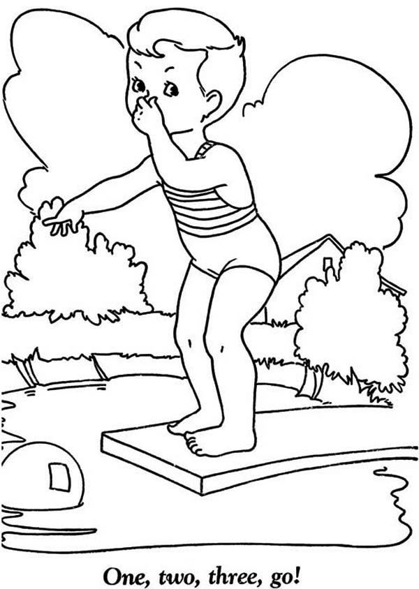 Pin Pool Coloring Pages on Pinterest