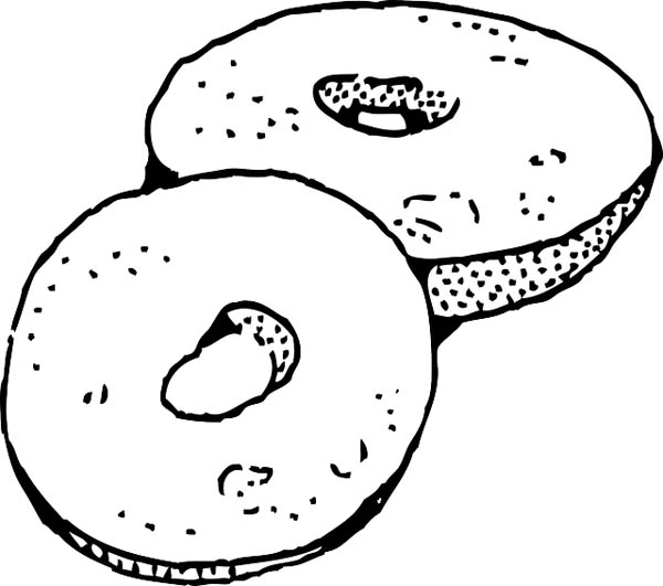 donuts junk food coloring page  download & print online