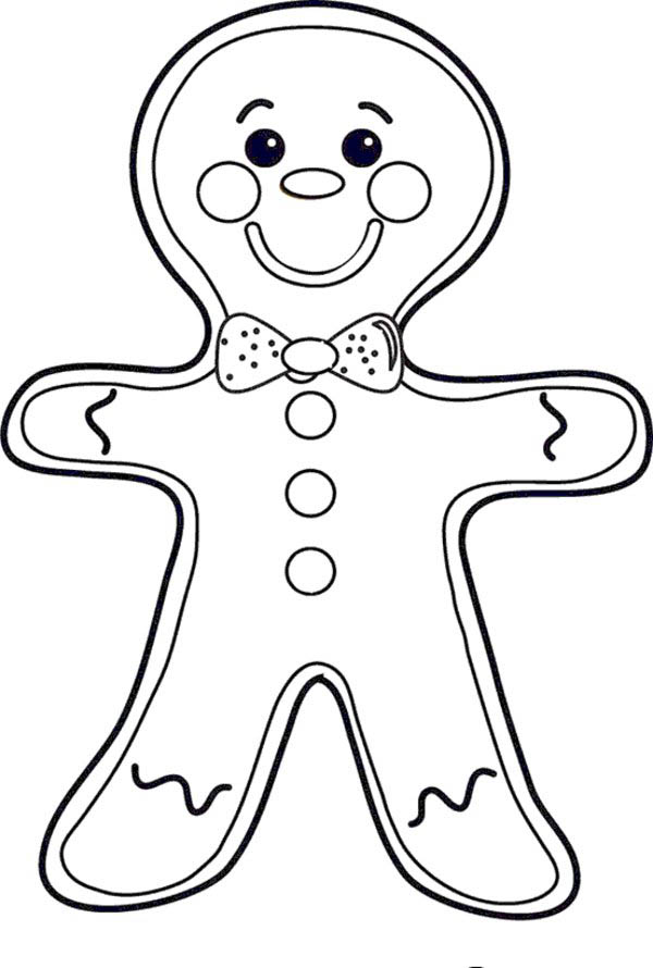 cheeky mr gingerbread men on christmas coloring page