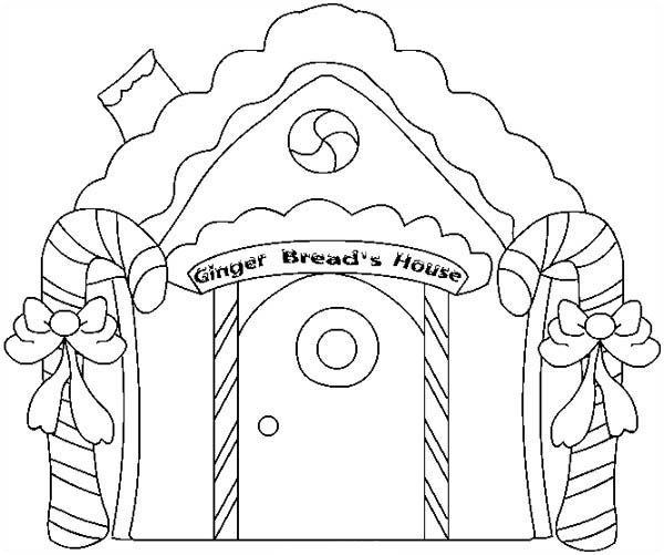 33 Free Gingerbread House Coloring Pages Printable Gingerbread House