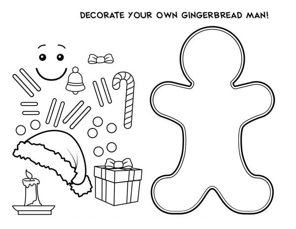 Decorate Your Own Mr Gingerbread Men For Christmas