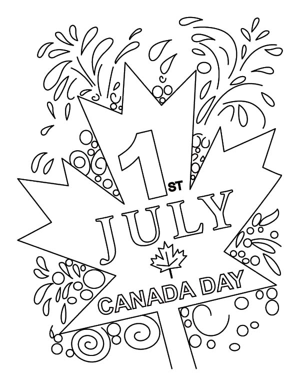 July First in Canada is Canada Day Coloring Pages