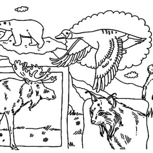 A Happy Easter Bunny Running on the Field Coloring Page